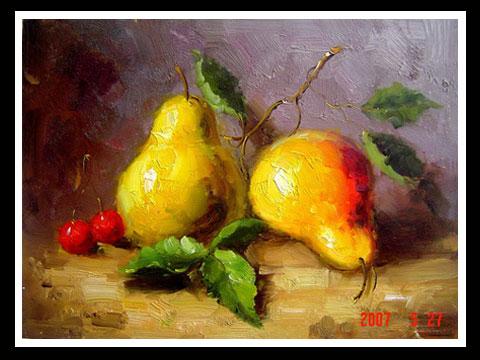 y01253油画水果静物